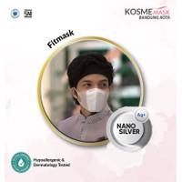ECERAN MASKER KOSME MASK/ FITMASK / NANO SILVER / 1 PCS / ANTI MASKNE