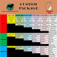 Custom - Super Package (100K) | Dog Cat Raw Food - Choose Your Food!