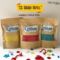 CG Dough in a JAR 300g (regular color) / homemade playdough 300 gram - Refill 300g