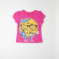 Baju Anak Kaos Cewek Baby Victory Hello Smart Cookie Pink Sisa Export