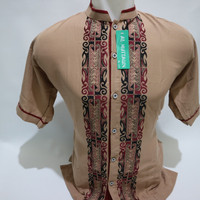 Grosir Baju Koko Muslim Laki - laki Lengan Pendek Bordir Murah Terbaru