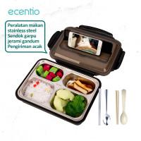 ecentio1.2Lkotak makan siang stainless steel kapasitas besar lunch box
