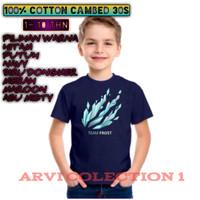 t-shirt kaos baju anak laki2 perempuan team frost diamon 1