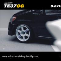 Ban Karet diecast Sakura Model TE37 OG white tampo Rays