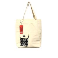 DAMN! I LOVE INDONESIA SHOPER BAG WHITE UNISEX