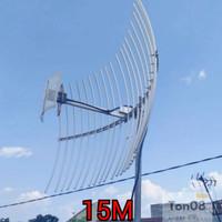 Antena Yagi Grid Penguat Sinyal HP,Modem,Mifi 4G,4H,3G Kabel 15 M