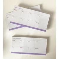 Desk Memo Pad: Weekly Reminder