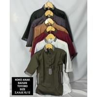 Baju Koko Anak Usia 6-11 Tahun bahan Toyobo