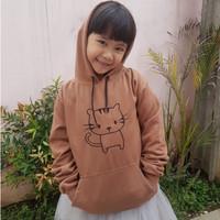 Baju jaket hoodie anak perempuan 6 7 8 9 10 tahun motif kucing MURAH
