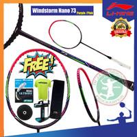 (PAKET BG66 ULTIMAX) LINING WINDSTORM NANO 73 RAKET BADMINTON ORIGINAL