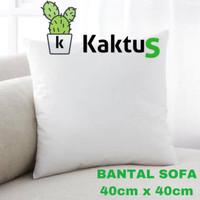 BANTAL SOFA INSERT MERK KAKTUS UKURAN 40cmx40cm BAHAN SILICONE DACRON