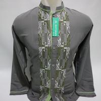 Grosir Baju Koko Muslim Pria Dewasa Lengan Panjang Bordir Gaul Baru