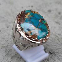 Cincin Pirus Persia Natural Batu Permata Asli
