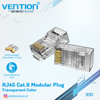 VENTION - Kepala Kabel LAN RJ45 Cat6 Cat6A UTP FTP Modular Plug 10pcs