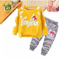 Setelan anak perempuan Baju anak perempuan Sweater anak cardingan anak