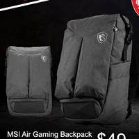 MSI Air Gaming Backpack - original baru segel