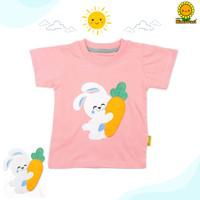 Himawari Baju Kaos Anak Premium Katun T-Shirt Unisex Bordir Series 2 - BUNNY, S (1-2 Tahun)