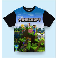 Baju Kaos Anak Laki-Laki Dan Perempuan Minecraft Dungeons - S