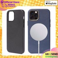 Leather Case MagSafe iPhone 12 Pro Max Decoded Back Cover Casing