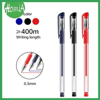 Gel Pen Pulpen 3 Warna Bullet Tip 0.5mm Pena Perlengkapan Alat Tulis