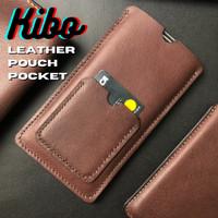 Leather Pouch HP SleeveCase + Pocket Card(Bisa Custom Semua HP)