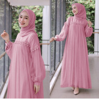 Gamis terbaru 2021 Baju Gamis Wanita Renda Mewah Muslim Remaja Gamis M