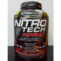 Nitrotech Ripped Muscletech 4 lbs Whey Protein Diet Fat Burner Burn lb