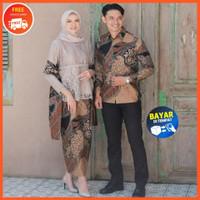 Batik Couple Kebaya Brukat Modern Baju Kapelan Pesta Kondangan Terbaru