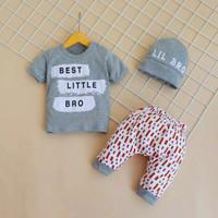 Baju anak bayi laki laki setelan baby boy cowok usia 6 9 12 18 bulan