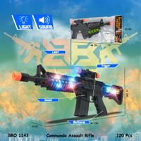 BRO1143 Commando Mainan Anak Pistolan Tembak Tembakan Baterai BIGBANG