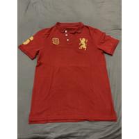 GIORDANO Polo Baju Kaos T-Shirt Pria Merah / Preloved Bekas Second