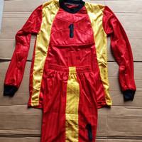 Baju Kiper Futsal/Sepak Bola Anak MK-4 Lengan Panjang (Merah/Kuning)