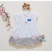 PK0042 - Kelinci Baju Setelan Bayi anak Perempuan Cantik 0-12 bulan