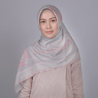 Zoya Lavatera Scarf - Hijab Kerudung Segi Empat - BLACK