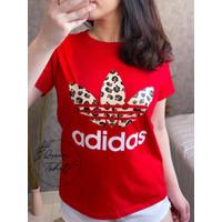 Kaos Wanita Import Jumbo Baju Fashion Branded Wanita INF-060 - Merah, L