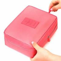 Tas Travel perlengkapan mandi untuk bisa untuk Sabun,Kosmetik,Dll - Merah Muda