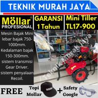 Mesin Bajak Mini Tiller MOLLAR TL17-900 Traktor Tangan Bensin/Gasoline