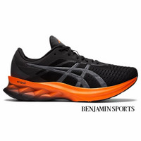 Sepatu Asics Novablast Men's Running Shoes Black Lime Zest Original