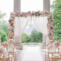 dekorasi backdrop pintu masuk pernikahan
