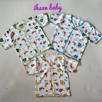 (3 pcs)baju bayi katun motif polkadot