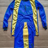 Baju Kiper Futsal/Sepak Bola Anak Lengan Panjang BK-01 RJ Biru/Kuning