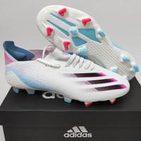 Sepatu Bola Adidas X 1 Ghosted White Blue Pink Fg