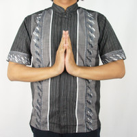 Odza Classic Baju Koko Muslim Kemeja Lengan Pendek Pria Batik Vikal B