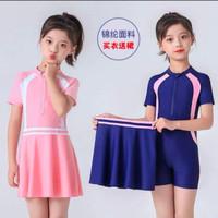 Baju Renang Anak/Remaja Perempuan Two Piece - Merah Muda,Nevy