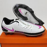 Sepatu Bola Nike Phantom GT Academy White Pink Blast Fg