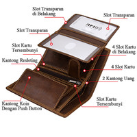 Dompet Pria Dompet Kulit Asli First Layer Cowhide Leather DK02