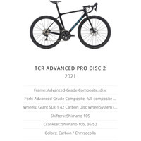 ROADBIKE GIANT TCR ADVANCED PRO DISC 2