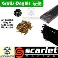 Jari jari motor bukan TDR ring 17 sd 21 KLX - Scarlet Hitam Stainless - Htm-R17-Dp9x190