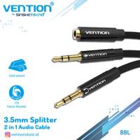 Vention BBL 1M Kabel Aux Audio Splitter 3.5mm Female to 2 Male Braid