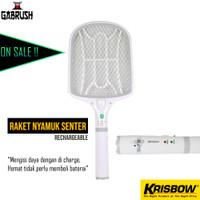 Krisbow Raket Nyamuk Senter Rechargeable